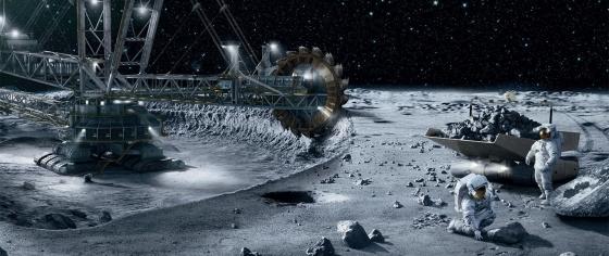 畫家構思的小行星採礦工作