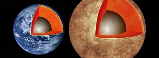 畫家構思的類地行星和地球的結構
