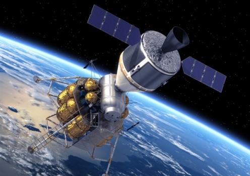 畫家構思的光明星衛星