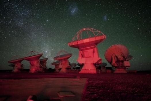 阿塔卡馬射電望遠鏡陣列夜景