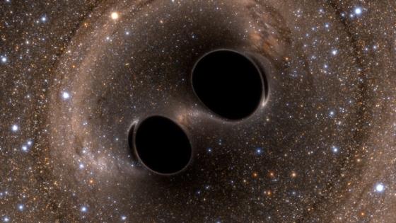 科學家從雙黑洞併合找到重力波存在的時空漣漪