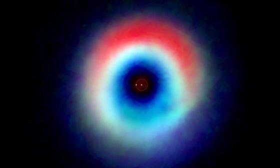HD142527雙星系統的合成圖像