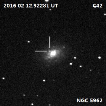 巨蛇座超新星發現照片