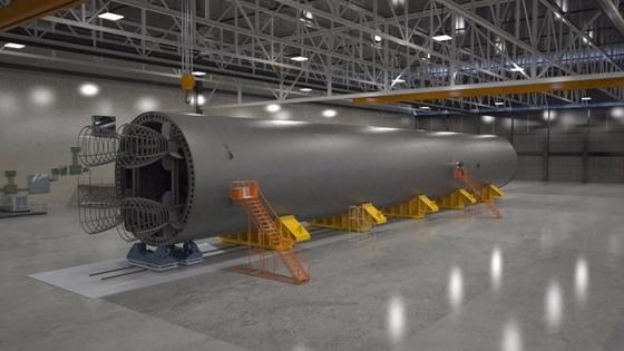 太空發射系統火箭核心模型