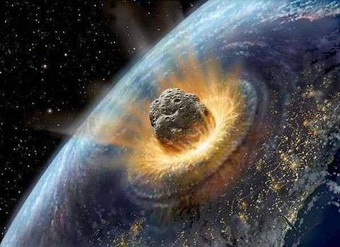 畫家構思的小行星撞擊地球