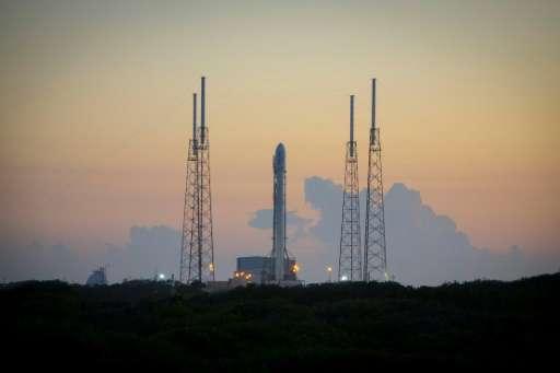 獵鷹九號火箭在陸地發射場的情況