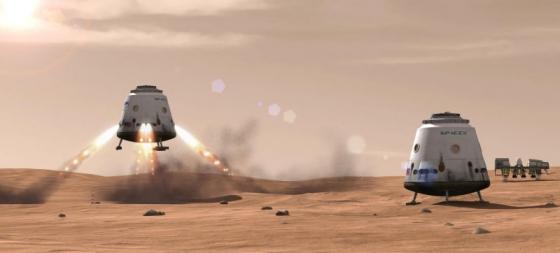 畫家筆下的人類登陸火星計劃