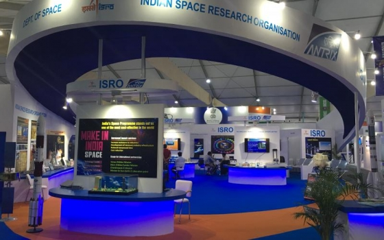 印度太空研究組織攤位