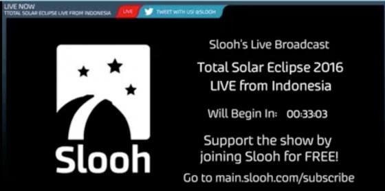 Slooh 直播日全食過程