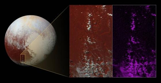 去年7月14日新視野號從冥王星旁邊飛掠時拍攝