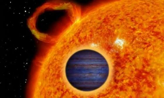 畫家筆下的熱木星型系外行星