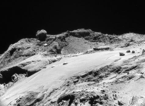 近距離拍攝彗星的照片