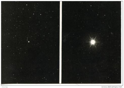 1975天鵝座新星爆發前(左)後(右)照片