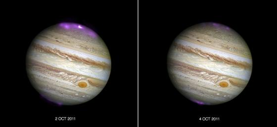 2011年太陽日冕大量拋射引起木星極光