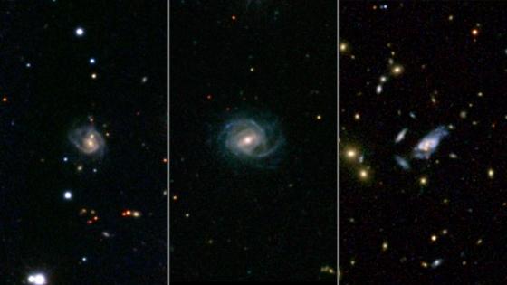 美國太空總署河外星系資料庫中三個超級螺旋星系