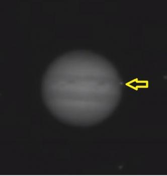 3月17日拍攝到木星瞬間出現亮點