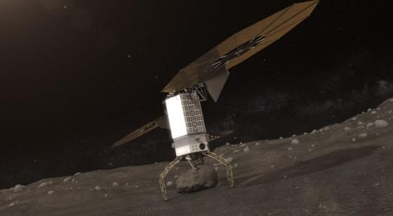 畫家筆下小行星重定向任務的機械臂