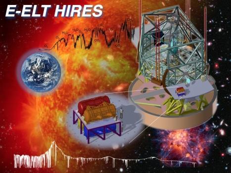畫家筆下的歐洲極大望遠鏡配備高解像度光譜儀