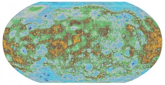 水星詳細地形圖
