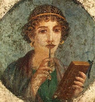 龐貝古城的莎孚壁畫