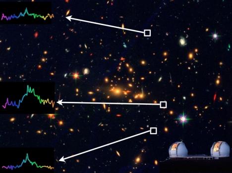 MACS2129.4-0741星系團背後的早期宇宙星系