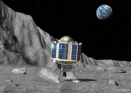 畫家筆下的日本月面探測器
