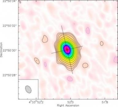 圖像顯示恆星由氣體和塵埃行星盤包圍