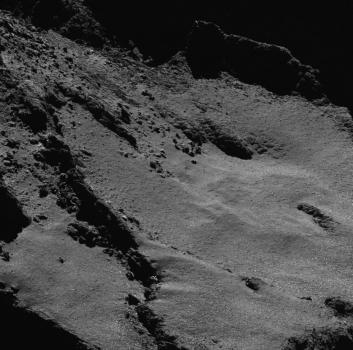 近距離拍攝彗星的表面照片