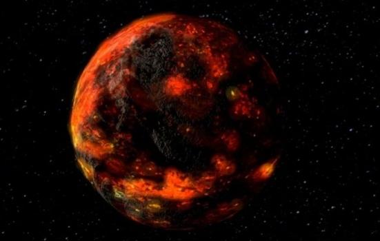 小行星撞擊月球時月球表面仍然充滿溶岩