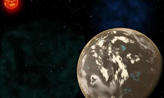 畫家筆下早期宇宙中的一顆碳行星