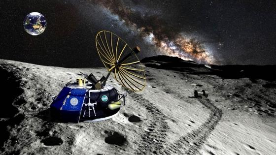 畫家筆下月球快遞的登月設備