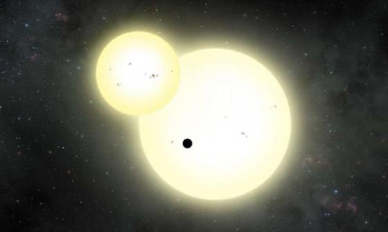 畫家筆下恆星和行星同時凌它的主恆星