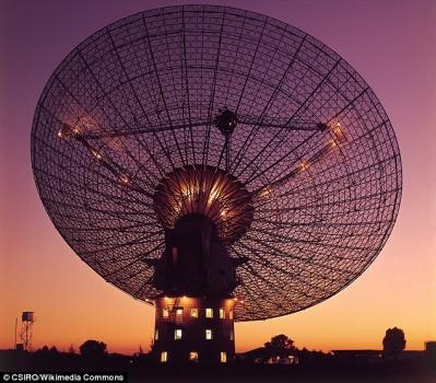 接收外太空無線電訊號的射電望遠鏡