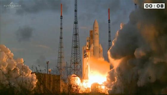 亞利安五號火箭發射情況