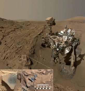 好奇號火星車發現含氧化錳岩石