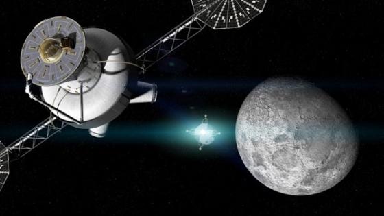 畫家筆下的月球太空站