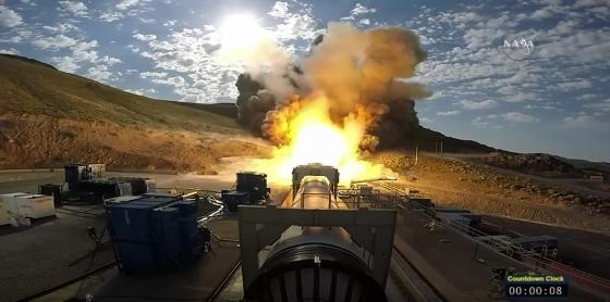 新型火箭推進器測試過程