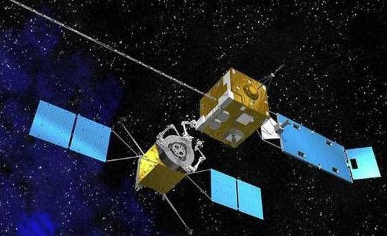 畫家筆下的天源一號衛星空中加油情況