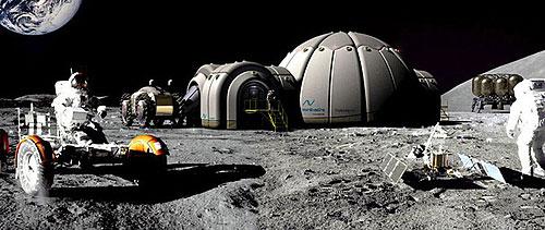畫家筆下的月球基地