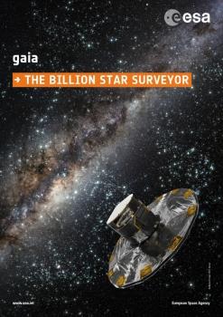 歐洲太空總署蓋亞衛星觀測十億顆恆星數據海報