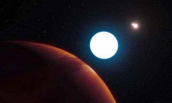 畫家筆下有三個太陽的外行星
