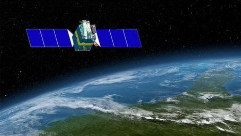 畫家筆下的資源三號02衛星