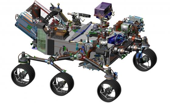 新一代火星車的設計圖