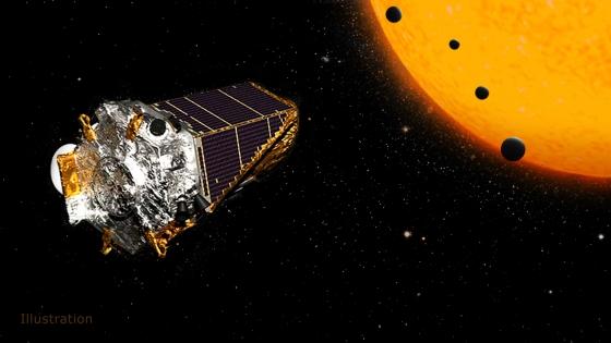 刻卜勒太空望遠鏡利用凌日法發現系外行星