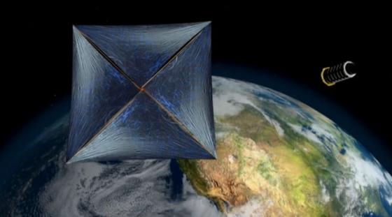 畫家構思的激光推動微型宇宙飛船