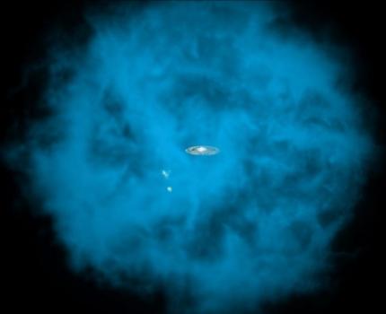 圍繞著銀河系的熱氣暈