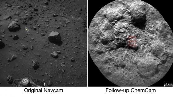 軟件分析左邊圖像選擇目標右邊是激光射擊選定的目標