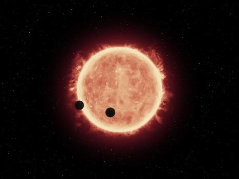 畫家筆下系外行星凌日現象
