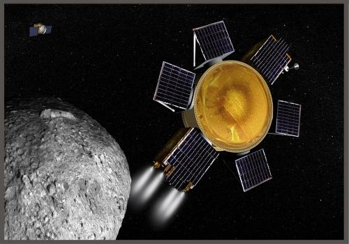 畫家筆下探測衛星抵達貝努小行星