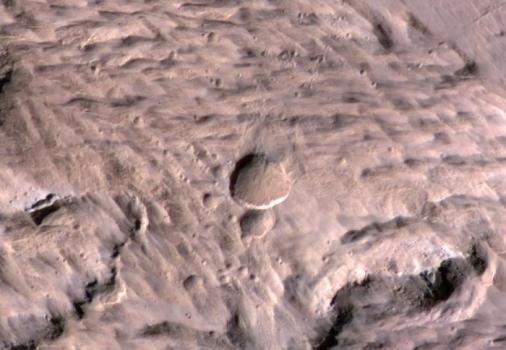 火星表面的隕石坑